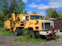stara ciężarówka żółty Zdjęcia Stock