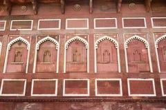 Stara ściana Agra fort w India Zdjęcia Stock