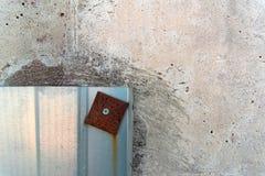 Stara ściana i metalu talerz Obraz Stock