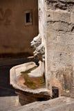 Stara ścienna fontanna w Girona, Catalonia, Hiszpania Zdjęcie Royalty Free