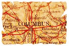 stara Columbus mapa obrazy royalty free