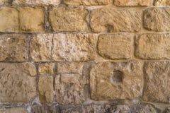 Stara crag Kamiennej ściany tekstura lub tło obrazy royalty free