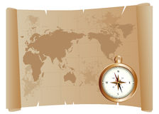 stara cyrklowa mapa Fotografia Stock