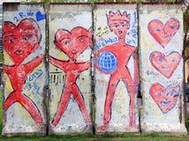 Stara część Berlińska ściana Obrazy Royalty Free