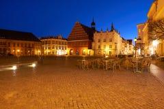 Stara część Greifswald w nocy Fotografia Stock