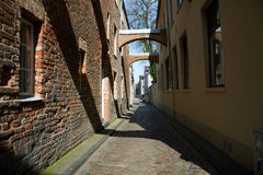 Stara część Lubeck Niemcy Obraz Royalty Free