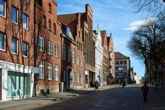 Stara część Lubeck Niemcy Zdjęcie Royalty Free