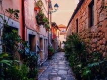 Stara część Porto miasto zdjęcie royalty free