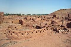 Stara część pustynny grodzki Mut w Dakhla oazis w Egipt, zaludnia wciąż żywego tutaj (cytadela) Obraz Royalty Free