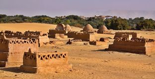 Stara część pustynny miasteczko (cytadela) Obrazy Stock