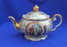 Stara czajnik porcelana obrazy stock