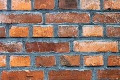 Stara czerwieni ściana Zdjęcia Royalty Free