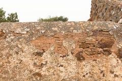 Stara czerwieni kamienia, ściana z cegieł background/tekstura/ fotografia royalty free