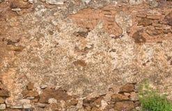 Stara czerwieni kamienia, ściana z cegieł background/tekstura/ obrazy stock