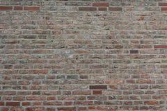 Stara Czerwona ściana z cegieł jako tło, tapeta Czerwone cegły wzór, tekstura Horyzontalny szeroki ściana z cegieł obraz royalty free