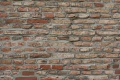 Stara Czerwona ściana z cegieł jako tło, tapeta Czerwone cegły wzór, tekstura Horyzontalny szeroki ściana z cegieł zdjęcie stock