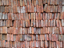 Stara czerwona ściana z cegieł tekstura Obraz Stock