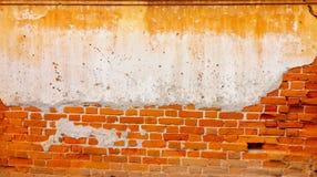 Stara czerwona ściana z cegieł tekstura Uszkadzał Brown Stonewall Abstrakcjonistycznego Pustego tło Zdjęcie Royalty Free