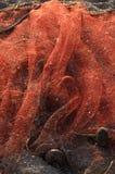 Stara czerwona fisher sieć Obrazy Stock