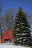 stara czerwona stodoła zdjęcie stock