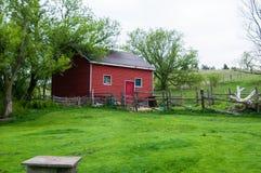 stara czerwona stodoła Zdjęcia Stock