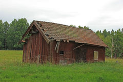 stara czerwona stodoła Obrazy Royalty Free