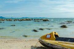 Stara dżetowa narta na plaży Fotografia Stock