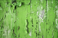 Stara deska z obieranie farby zielenią Zdjęcia Stock