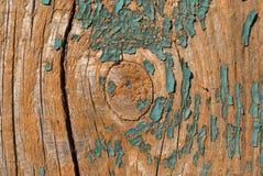Stara deskowa stara zielona farba Obrazy Stock