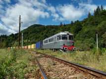 Stara dieslowska elektryczna lokomotywa HDR Zdjęcia Royalty Free