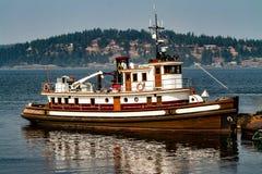 Stara drewniana łódź obrazy stock