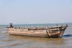 Stara drewniana łódź Obrazy Royalty Free