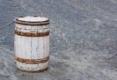 Stara drewniana baryłka, tona Obrazy Stock