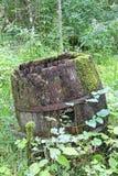 Stara drewniana baryłka Fotografia Stock