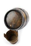 Stara drewniana baryłka, wiadro Zdjęcia Stock