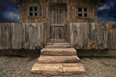Stara drewniana buda Zdjęcie Stock