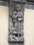 Stara drewniana domowa dekoracja w Bayeux, Francja Zdjęcia Royalty Free