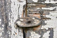 Stara drewniana drzwiowa zapadka obraz royalty free