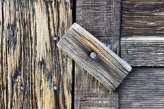 Stara drewniana drzwiowa zapadka zdjęcie royalty free