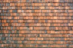 Stara drewniana gont ściana gonty texture drewnianego obraz stock