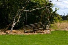 Stara drewniana huśtawka w Dani Fotografia Stock