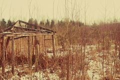 Stara Drewniana jata Obrazy Stock