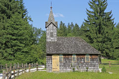 Stara drewniana kaplica Fotografia Royalty Free