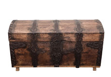 Stara drewniana klatka piersiowa. obrazy stock