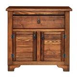 Stara drewniana klatka piersiowa kreślarzi odizolowywający na bielu Zdjęcia Royalty Free