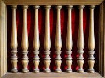 Stara drewniana meblarska dekoracja Zdjęcie Royalty Free