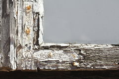 Stara drewniana nadokienna rama obraz royalty free