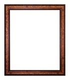 Stara drewniana obrazek rama obrazy stock