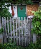 Stara drewniana ogrodowa brama Fotografia Royalty Free