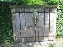 Stara drewniana ogrodowa brama Obraz Stock